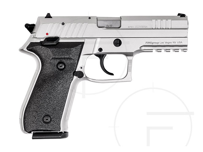 rex pistols nickel plated standard right profile