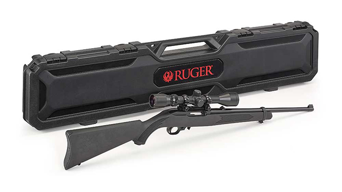 Ruger 10/22 with Scope and Case gp100