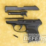 kel-tec p-3at Ruger LCP disassembled