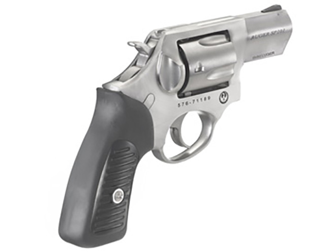 Ruger SP101 9mm revolver rear angle