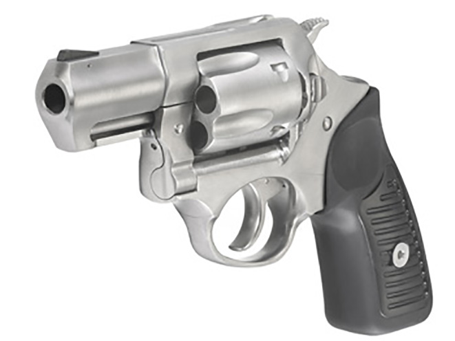 Ruger SP101 9mm revolver left front angle