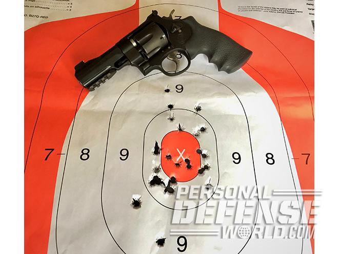 Smith & Wesson Performance Center Model 325 Thunder Ranch revolver target