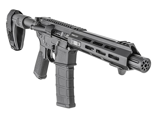 Springfield Saint AR-15 Pistol right front angle closeup