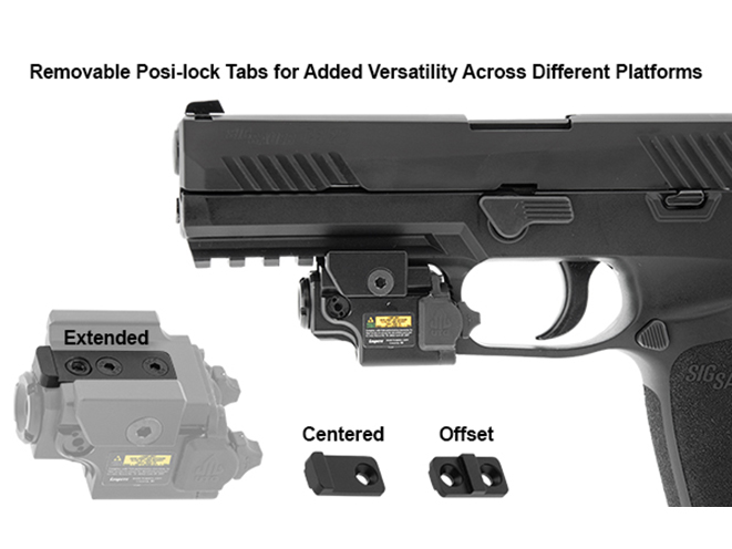 UTG Compact Ambidextrous Green Laser posi-lock tabs