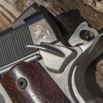 Colt Gunsite 1911 pistol logo and safety