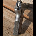 Colt Gunsite 1911 pistol mainspring housing and grip safety