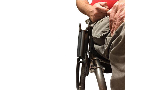 Comp-Tac wheelchair holster front view