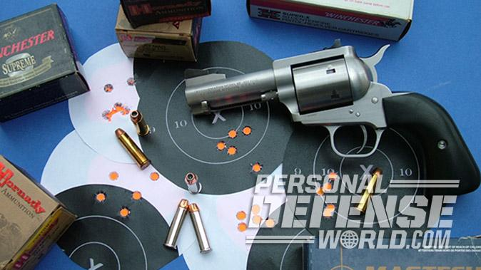Freedom Arms Model 97 revolver target