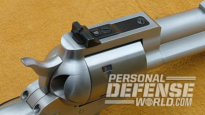 Freedom Arms Model 97 revolver rear sight