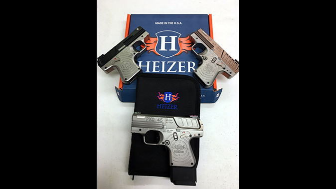 Heizer Defense PKO-45 pistol colors