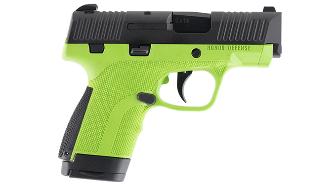 Honor Defense Honor Guard pistol acid green
