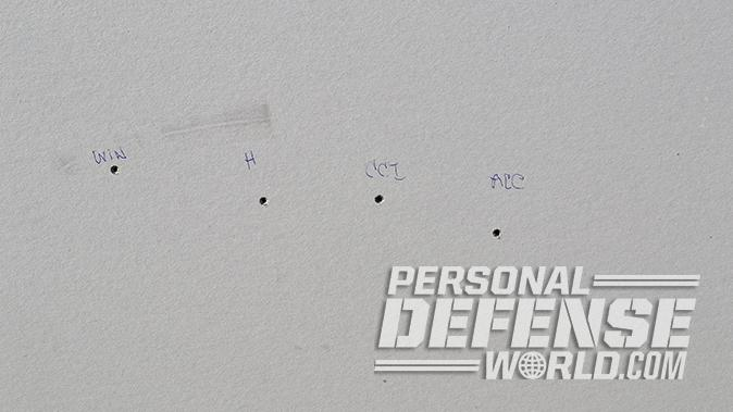 Kel-Tec PMR-30 pistol sheetrock