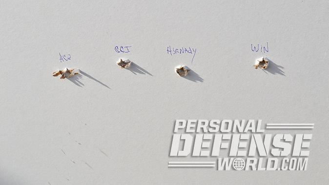 Kel-Tec PMR-30 pistol sheetrock wall