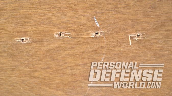 Kel-Tec PMR-30 pistol hollow core door test