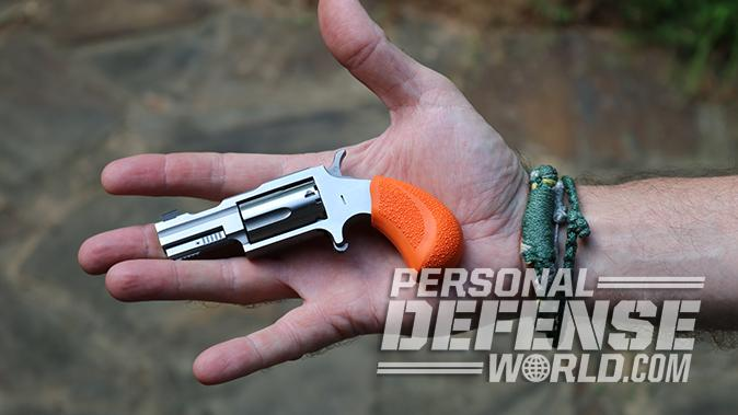 North American Arms Bug Out Box revolver in hand