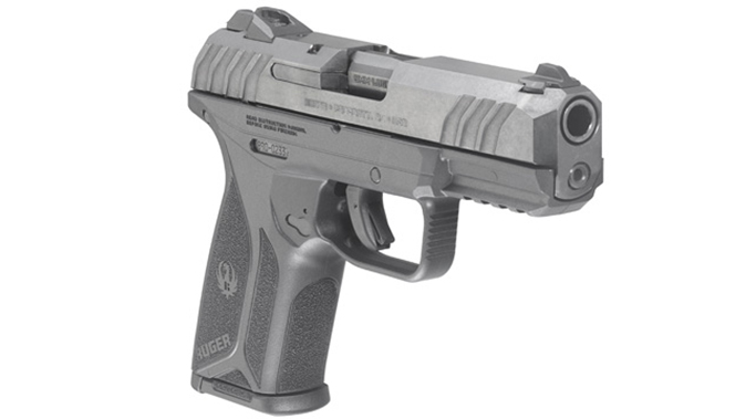 Ruger Security-9 pistol right angle