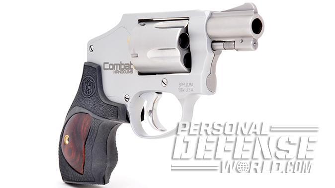 S&W Model 642 Performance Center revolver left angle