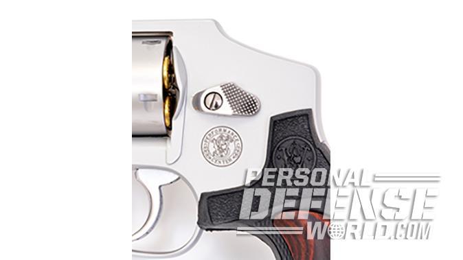 S&W Model 642 Performance Center revolver cylinder release