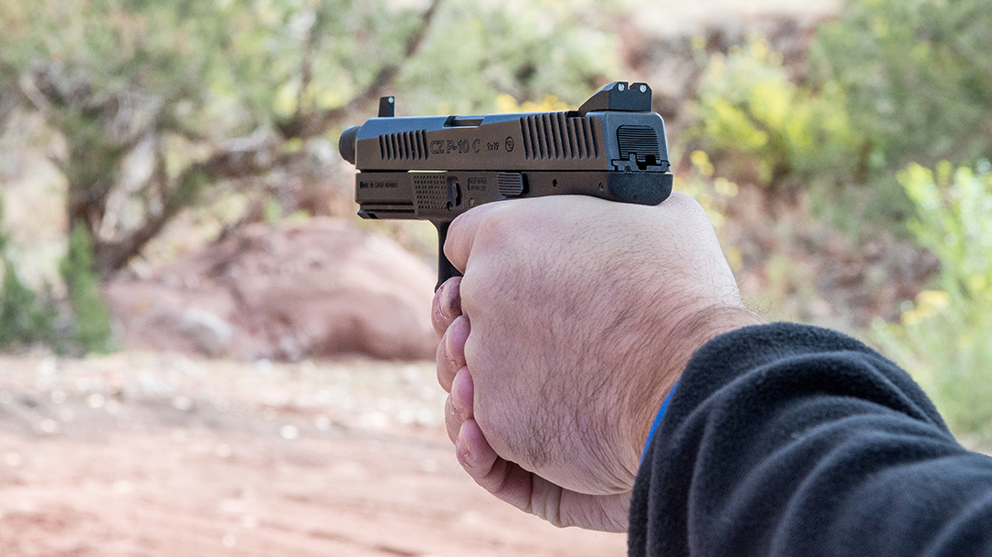 CZ P-10 C Pistol Athlon Outdoors Rendezvous rear