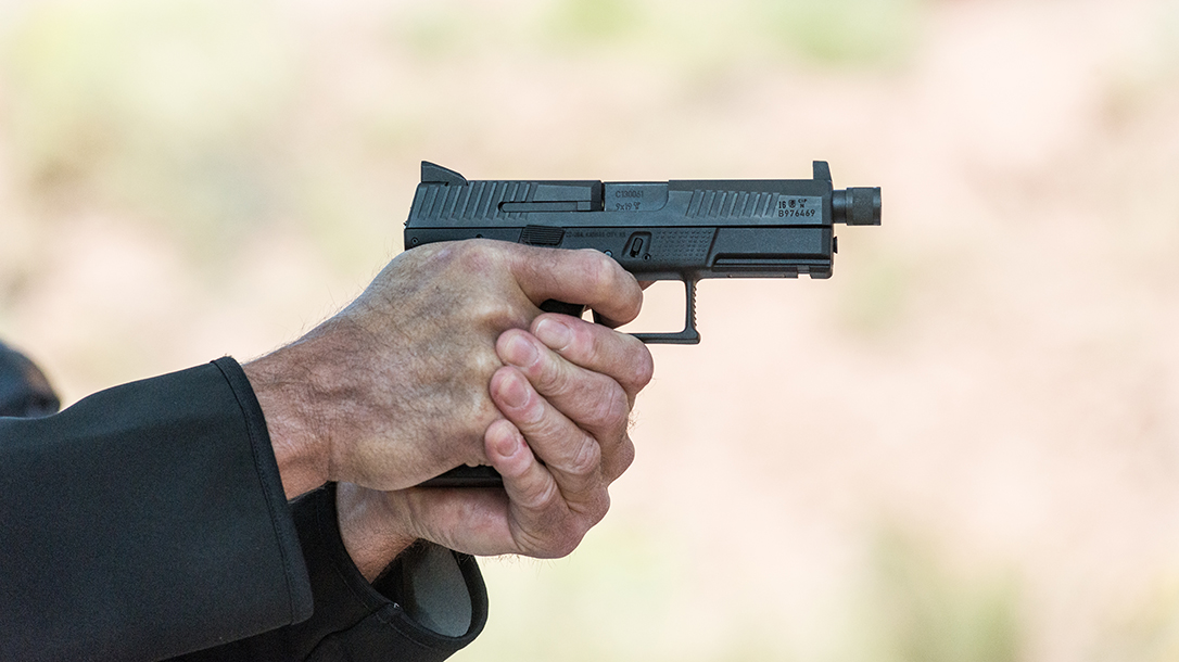 CZ P-10 C Pistol Athlon Outdoors Rendezvous suppressor ready