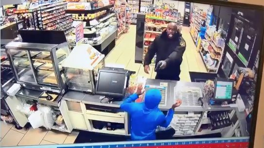 7-eleven robbery video