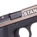 sig sauer P938 STAND pistol engraved slide