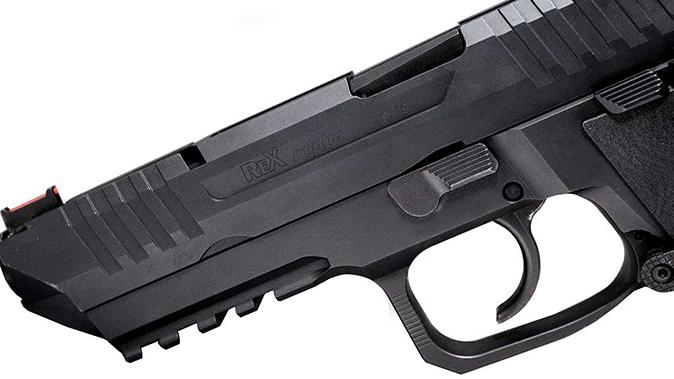 Arex Rex Alpha pistol slide and trigger