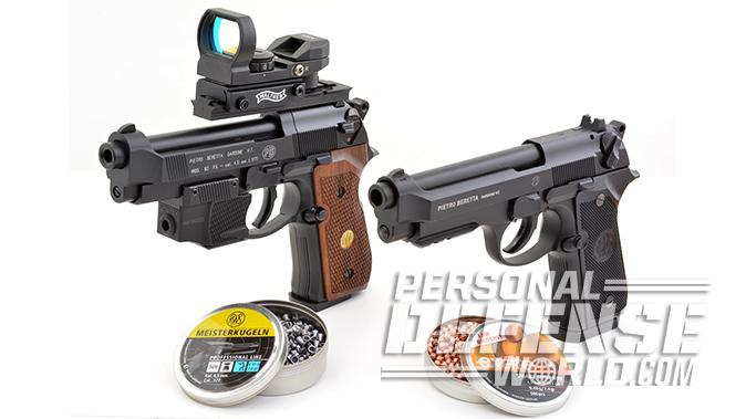 BBs vs Pellets beretta pistols comparison