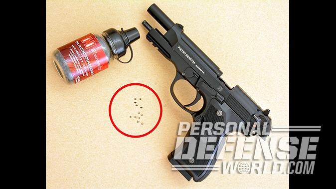 BBs vs Pellets target