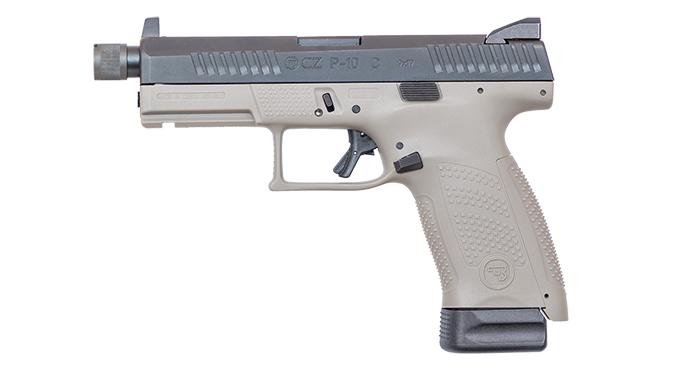 CZ P-10 C Urban Grey Suppressor Ready pistol left profile