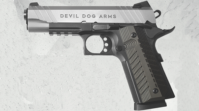 Devil Dog Arms DDA 1911 two stone stainless pistol left profile