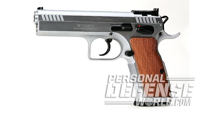 EAA Witness Elite Stock II 10mm pistol left profile