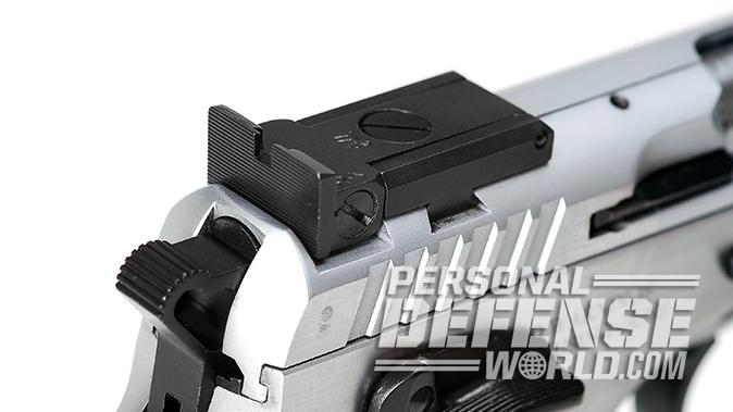 EAA Witness Elite Stock II 10mm pistol rear sight