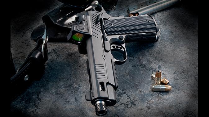 ed brown zev 1911 pistol left angle
