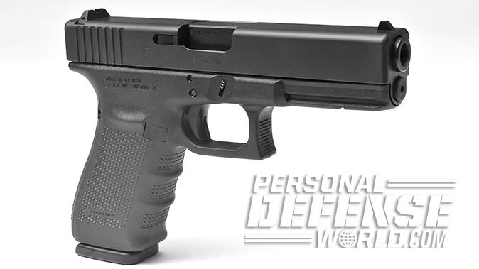 Glock 20 Gen4 10mm pistol left angle