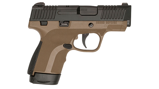 Honor Defense Honor Guard pistol brown right profile