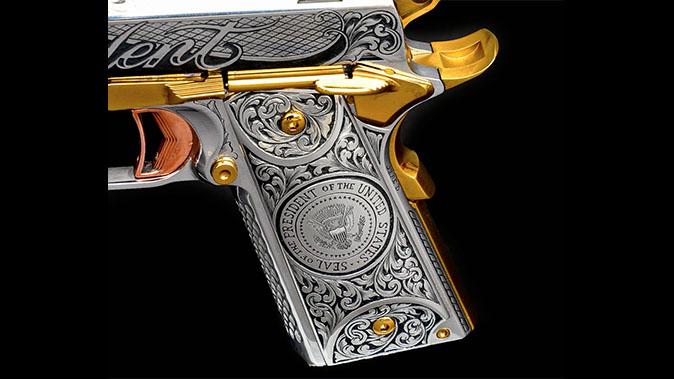 Trump 1911: Jesse James Builds Custom Gun for President Trump