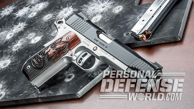 Kimber Camp Guard 10 pistol right angle