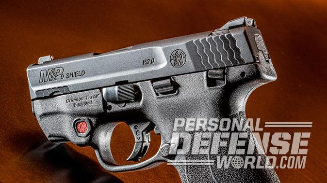 Smith & Wesson M&P9 Shield M2.0 pistol left profile