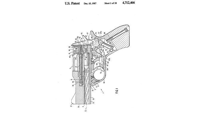 semi-auto revolver mateba patent