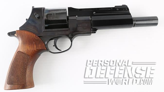 semi-auto revolver mateba right profile