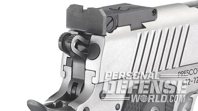 Ruger SR1911 Target 10mm pistol rear sight