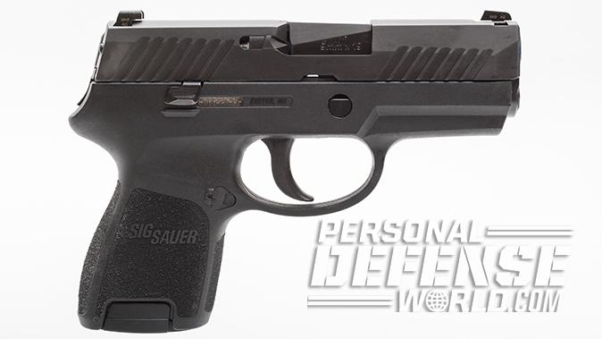 sig sauer p320 subcompact pistol right profile
