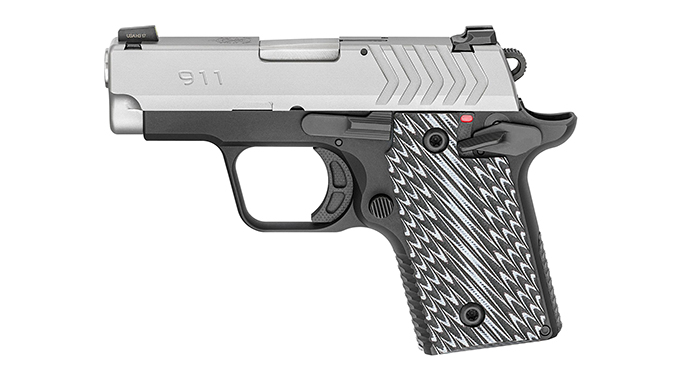 Springfield 911 380 pistol stainless left profile