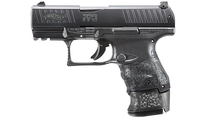 Walther PPQ Subcompact pistol left profile extended mag