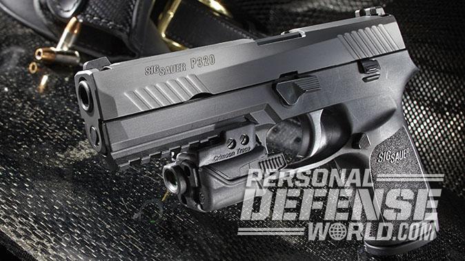 sig p320 pistol left angle