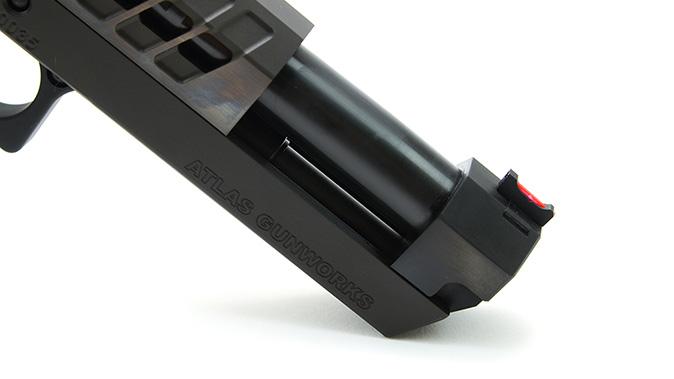 Atlas Gunworks Nemesis pistol barrel and sight