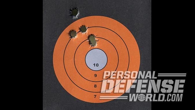 Glock 21SF pistol target