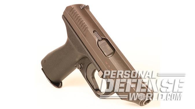 HK VP70 pistol front angle
