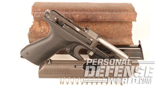HK VP70 pistol disassembled